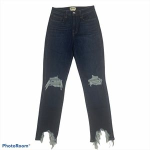 L'AGENCE High Rise Distressed Skinny Jeans